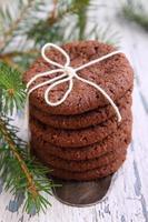 biscoitos de chocolate, ramo de abeto