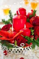 mesa festiva de natal foto
