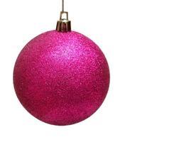 bola rosa de natal foto