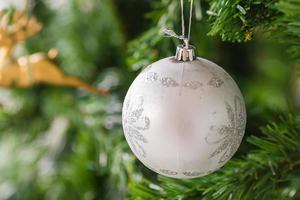 bela decoração de natal. foto