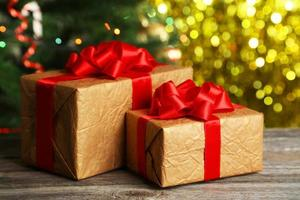 caixas de presente de natal foto