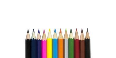 grupo de lápis de cor foto