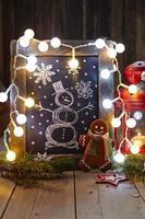 decoração de natal com lousa