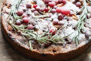 torta de natal de perto