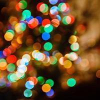 fundo desfocado de luzes de natal