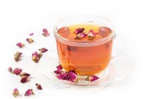chá com rosas