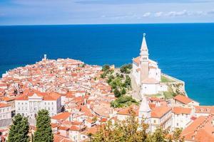 panorama da bela piran, eslovênia
