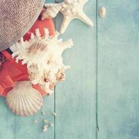 horário de verão com conchas do mar foto