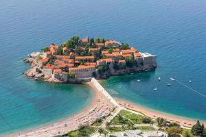st. ilha de stephan em montenegro