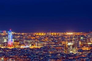 detalhe de barcelona à noite