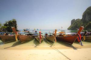 Barco de cauda longa foto