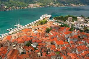 vista linda e pitoresca em kotor, montenegro