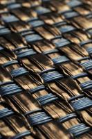 textura de fundo de vime tecida de palha abstrata