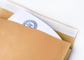 "envelope de papel carimbado ""ultrassecreto"" foto"