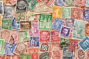 fundo de coleção de selos antigos