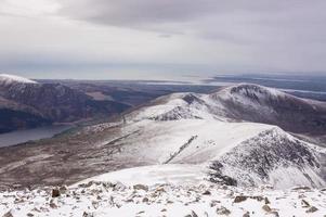 bela vista das montanhas de cima no reino unido das gales