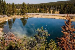 lago em Yellowstone, Wy