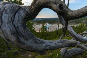 grande parque nacional prismático de yellowstone foto