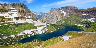 parque nacional escondido do lago glaciar