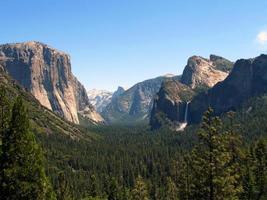 vale de Yosemite, vista do túnel foto