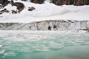 geleira do monte edith cavell, parque nacional de jaspe (canadá)