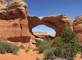arco quebrado no parque nacional de arcos
