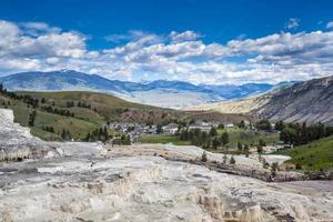 mamutes termais, parque nacional de Yellowstone