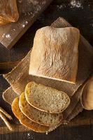 pão ciabatta caseiro crocante