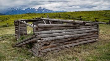 velha cabana em Wyoming