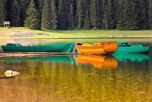 lago negro no parque nacional durmitor, montenegro
