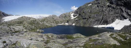 geleira svelgabreen (parque nacional de Folgefonna, condado de Hordaland,