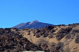 paisagem montanhosa do Parque Nacional de teide. tenerife.spain.