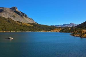 as montanhas e o lago azul tioga