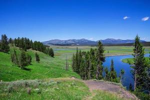 os parques nacionais de Yellowstone, nos eua