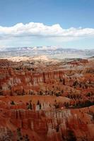 o ponto de inspiração no parque nacional do canyon de bryce, utá eua