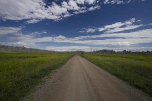 estrada para lugar nenhum parque nacional de badlands
