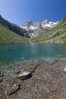 lago da montanha, parque nacional dos pirineus, frança