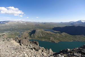 Cume de Besseggen no Parque Nacional de Jotunheimen, Noruega