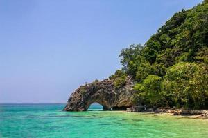famosa ilha no parque nacional de tarutao, Tailândia foto