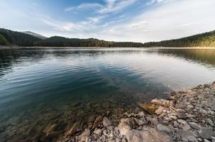 lago negro, parque nacional durmitor em montenegro