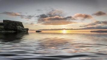 pôr do sol sobre a borda de Baslow