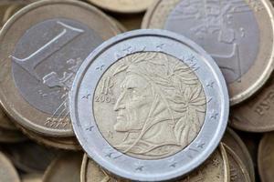 moedas de euro foto