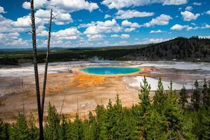 grande primavera prismática, parque nacional de yellowstone, wyoming