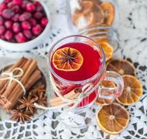 vinho quente de cranberry