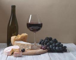 vinho e queijo fresco