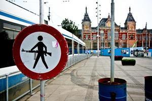 estação central de amsterdão foto