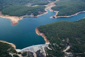 barragem de conservas e reservatório