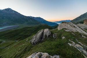 crepúsculo alpino foto