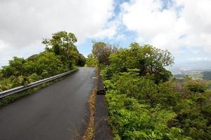 estrada no topo da montanha, oahu, havaí