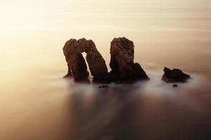los urros na costa quebrada com longa exposição